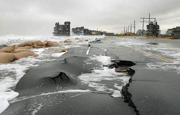 coastal infrastructure damage from storm surge